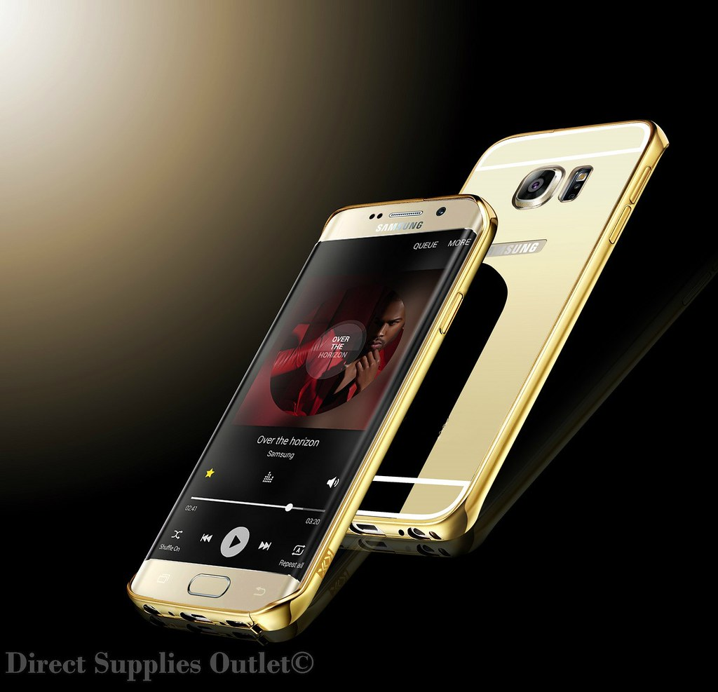 separation shoes db4e1 b5fee Details about Luxury Aluminum Ultra-thin Mirror Metal Case Cover for  Samsung Galaxy S6 S7 Edge