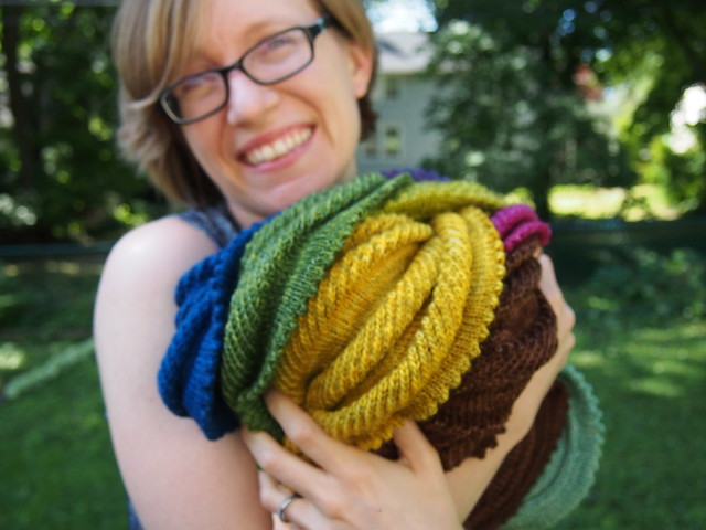 Out of focus Willow Cowl hug.