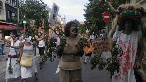 Manifestación contra el G7 Miarritz, 13-06-2019