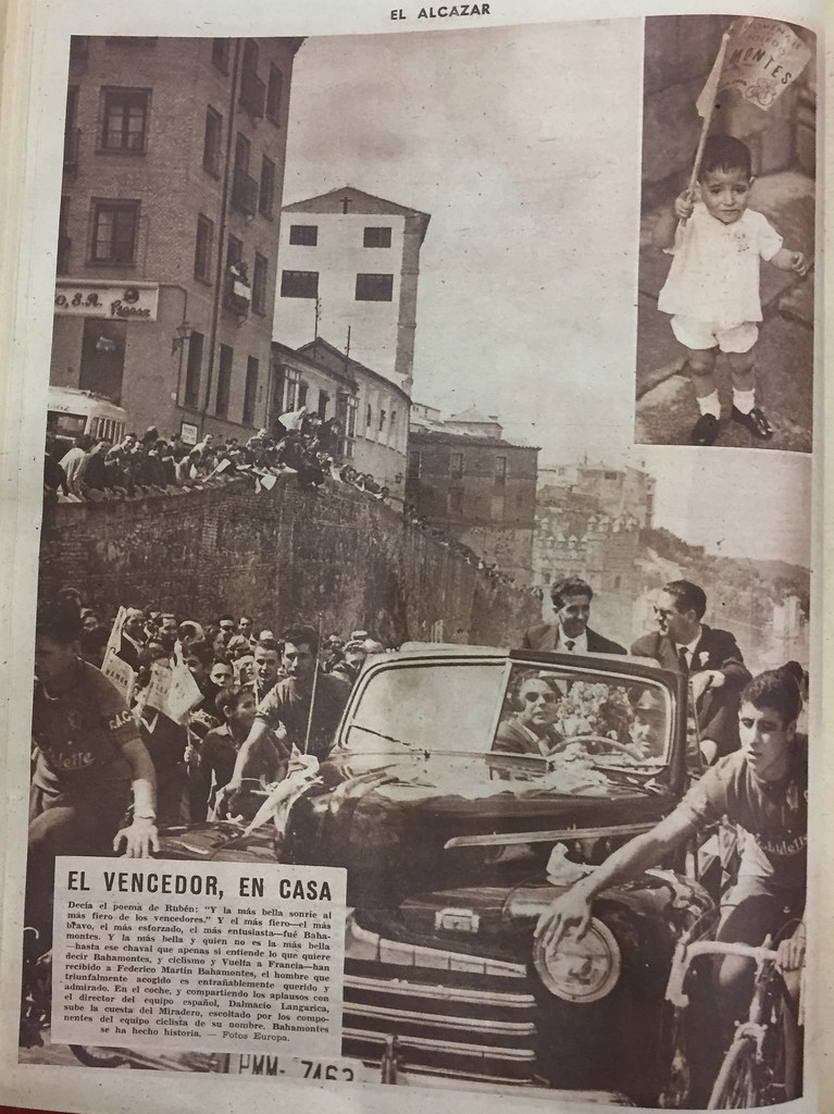 Bahamontes es recibido en el Miradero en septiembre de 1959. El Alcázar