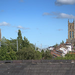 Rooftop view of churches at Preston