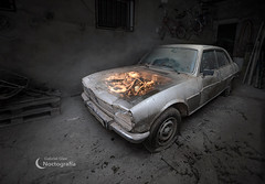 Peugeot 504 - Light painting