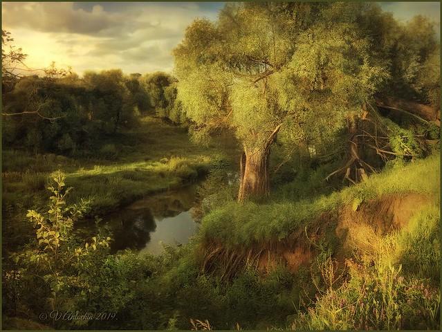 Evening on the river Taruska.