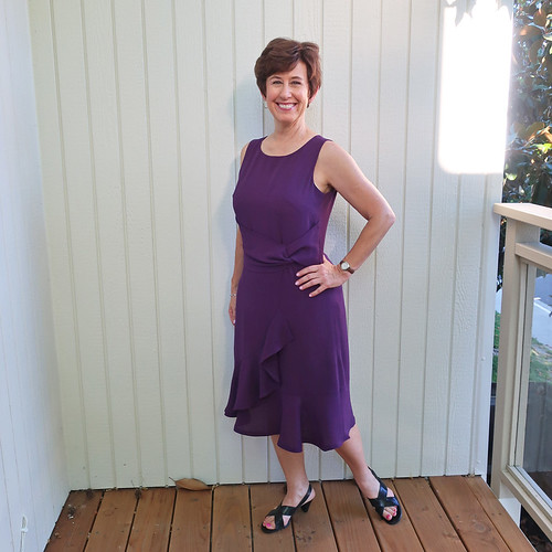Purple dress 16 sq