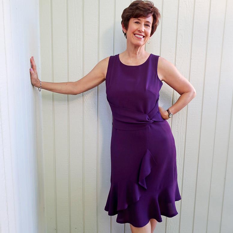 purple dress 17 sq