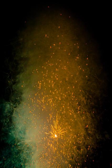 firework and smoke