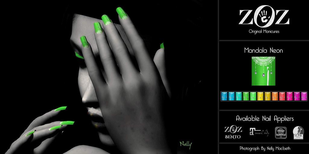 {ZOZ} Mandala Neon Polish pix