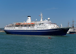 MS Marco Polo, Cruise & Maritime Voyages, Portsmouth Harbour, Portsmouth, Hampshire, UK