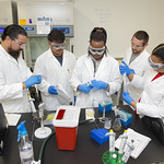 Wed, 2019-05-15 09:39 - Valencia College students at work in the Biotechnology lab on the Lake Nona campus, as part of the Protein Techniques and Tissue Culture class with professor Sothy Kien, on May  15, 2019 in Orlando, Fla.
