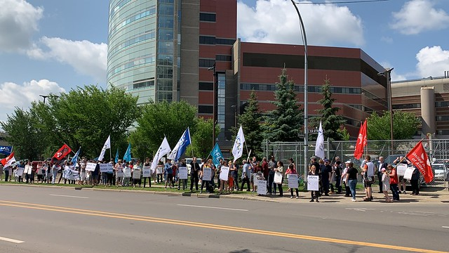 Bill 9 Information Picket and Rally