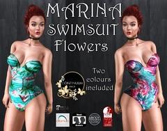 Continuum Marina bodysuit flowers