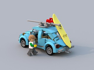 lego creater minifig beetle with new rear