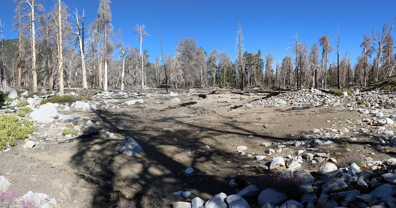 A flat flood plain on the plateau west of Dry Lake