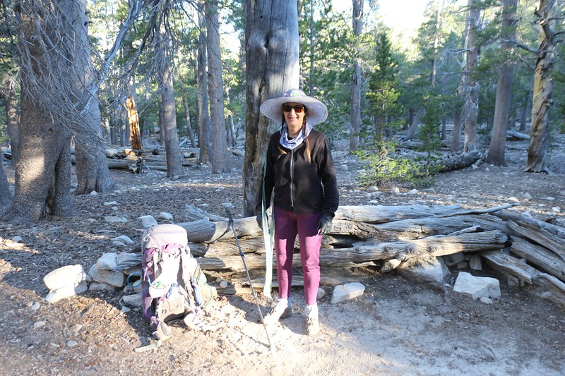 We're all packed up and Vicki is ready to head back home after three nights in Lodgepole Camp