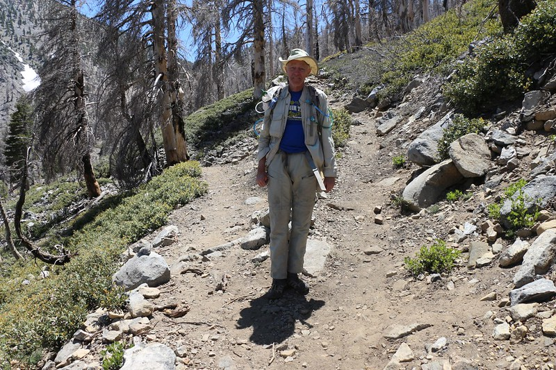 Me at the trail junction - Dollar Lake to the left, Dollar Lake Saddle to the right