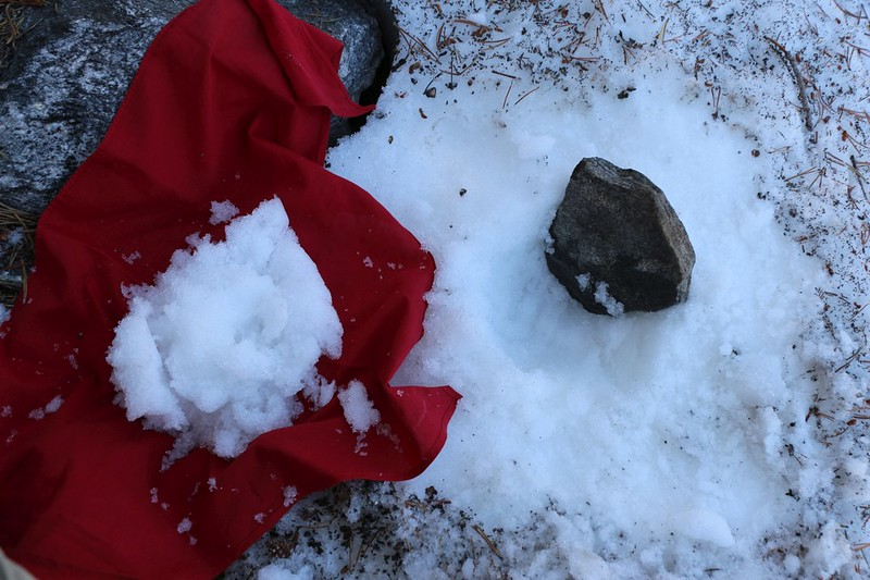 Vicki asked me to collect a bunch of snow from the northern slope of Charlton Peak just above Dollar Lake