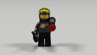Classic Space Black Astronaut Figure