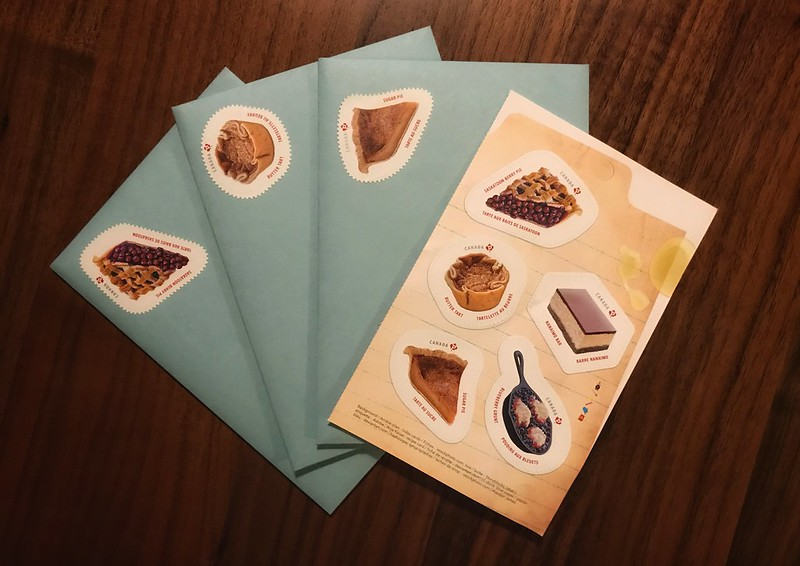 Envelopes with Canadian dessert stamps affixed to them