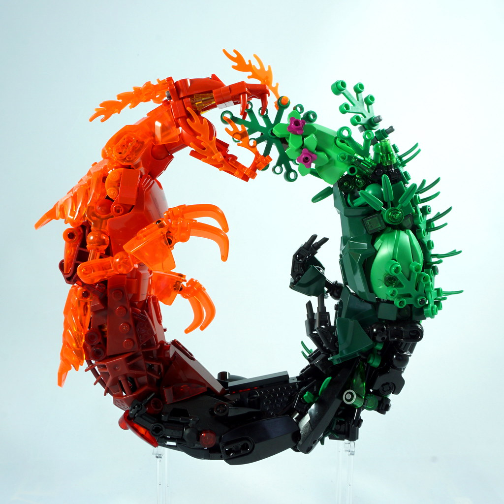 Wildfire Ouroboros (custom built Lego model)