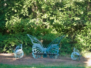 Butterfly Bench and Chairs