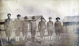 Group With Machine Gun, Camp Sherman