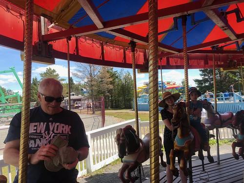 Paul, Amy, and Ezra on Carousel