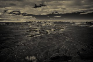 I Stood and Took in the Sweet Views of Canyons (Black & White, Canyonlands National Park)