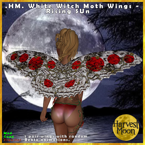 Harvest Moon - White Witch Wings - Rising Sun - TeleportHub.com Live!