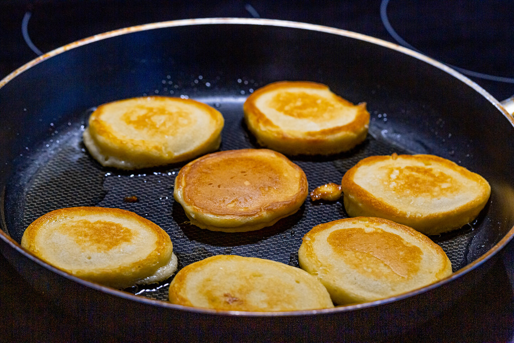 Making pancakes on frying pan | ✅ Marco Verch is a Professio ...