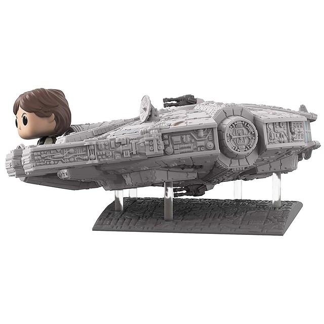 不朽的銀河最速傳說! Funko Pop! Deluxe《星際大戰》千年鷹號與韓·索羅 Millennium Falcon with Han Solo【Amazon限定】