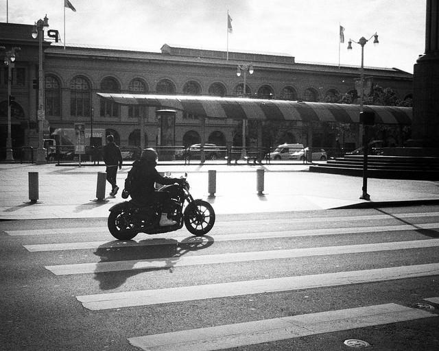 Motorcycle on the Embarcadero