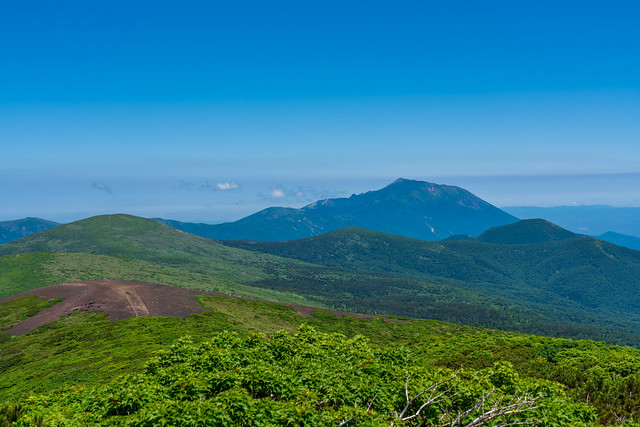 笊森山と岩手山@横岳