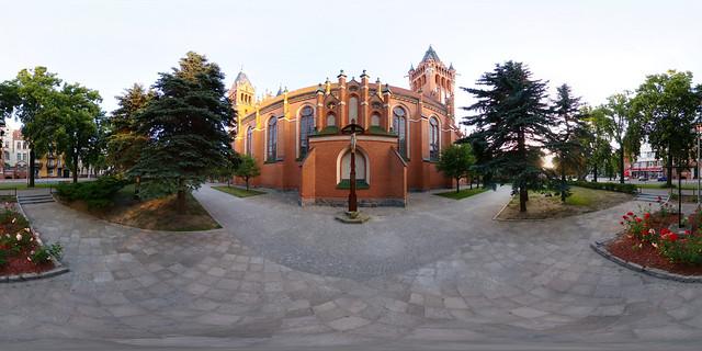 Polen - Olsztyn, Herz-Jesu Kirche 360 Grad