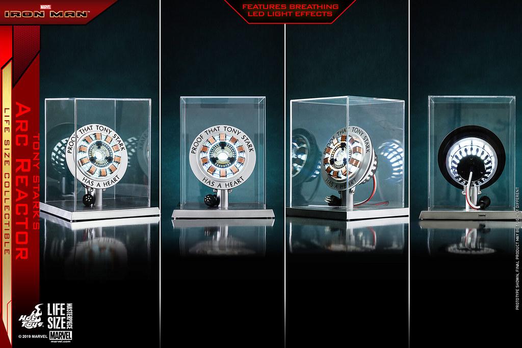 「東尼·史塔克有心的證明」Hot Toys - LMS012 -《鋼鐵人》東尼·史塔克的反應爐 Tony Stark's Arc Reactor 1:1 比例道具複製品