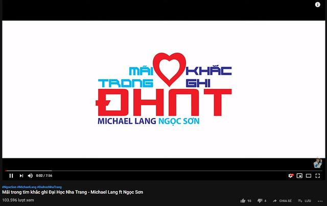 KỶ LỤC MV MỚI CỦA MICHAEL LANG