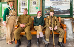 Group of Re-enactors