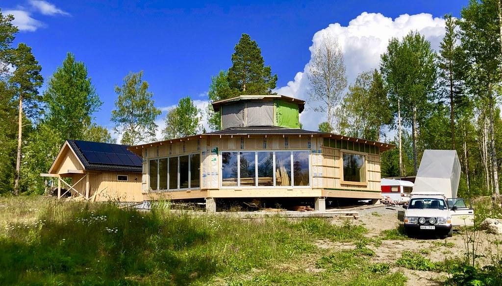 Åttkantiga huset i Fannbyn - Juni 2019, 1 efter start