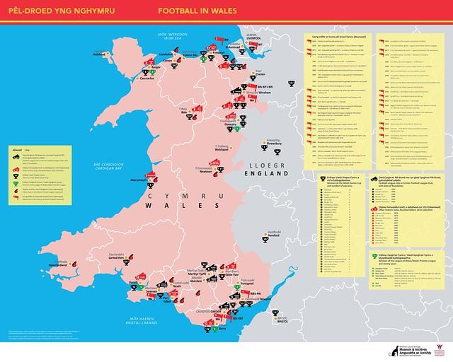 Poster Pêl-droed yng Nghymru | Football in Wales poster
