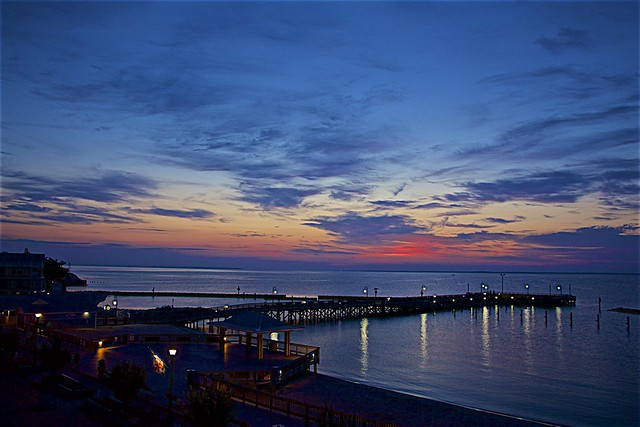 View From My Balcony- Sunrise At North Beach, MD.