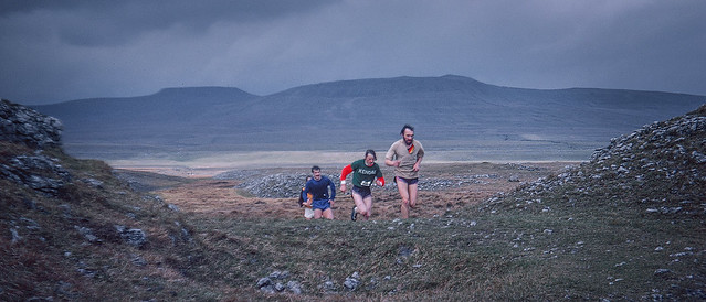 The Three Peaks Race, 1975 - the leading group