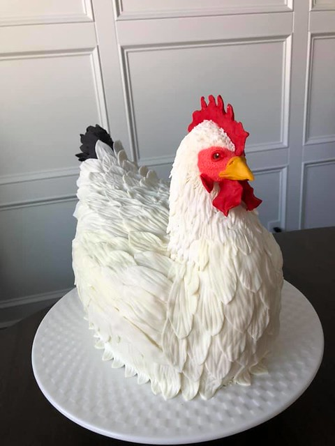 Chicken Shaped Cake by Mandy Immel Powell