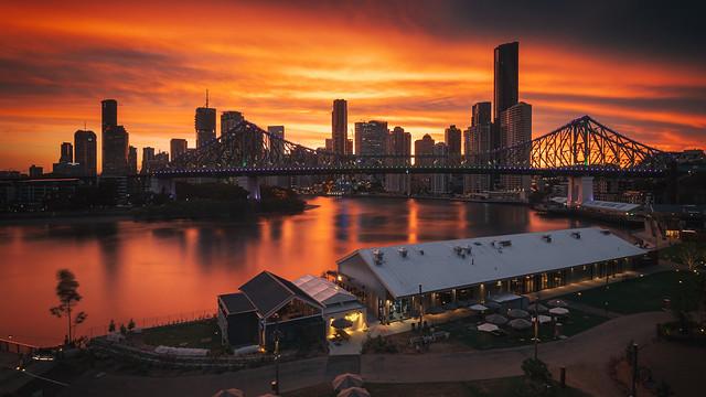 Smouldering Brisbane