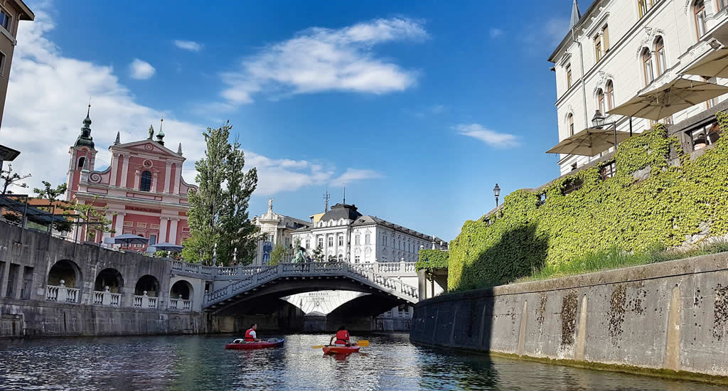 Suppen en kayakken in Ljubljana | Mooistestedentrips.nl
