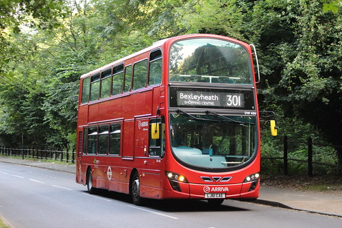Arriva London DW486 on Route 301, Abbey Wood New Road