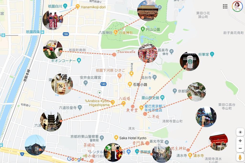 地圖一日遊 清水寺