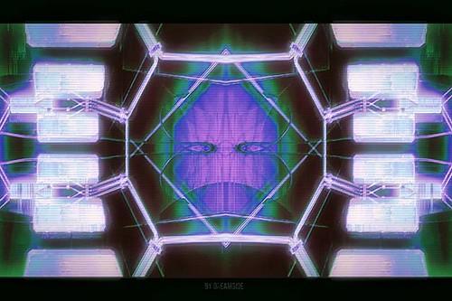 The Watcher // #glitch #glitchart #digitalart #vaporwave #rmxbyd