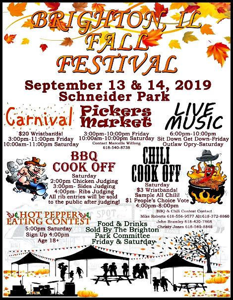 Brighton Fall Festival 9-13, 9-14-19