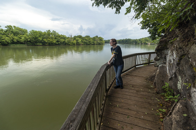 Amber Robinson, Boardwalk, Tennessee River, Ijams Nature Center, Knox County, Tennessee