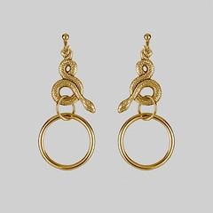 Snake-and-Hoop-Earring_gold