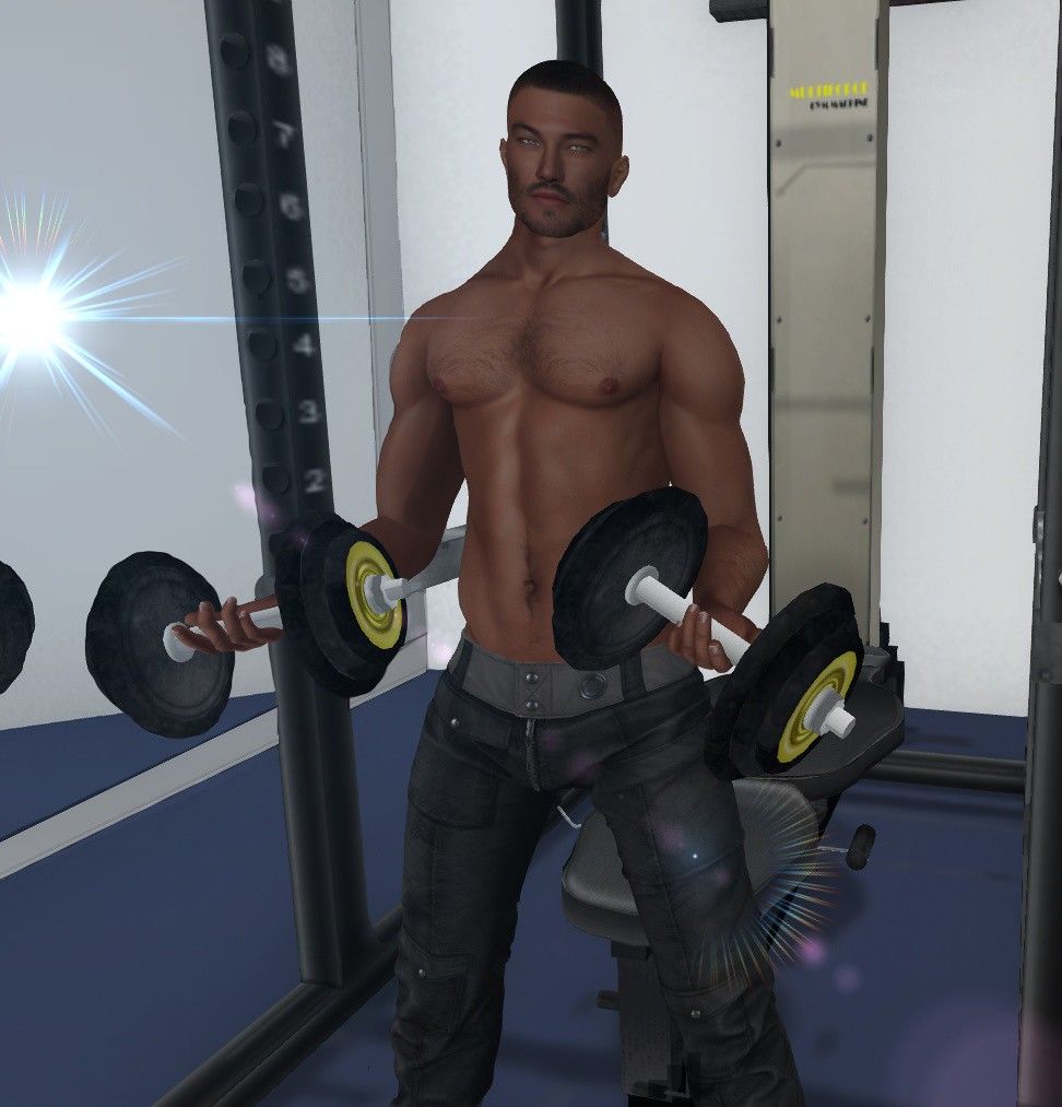 You mean these barbells? *Click*